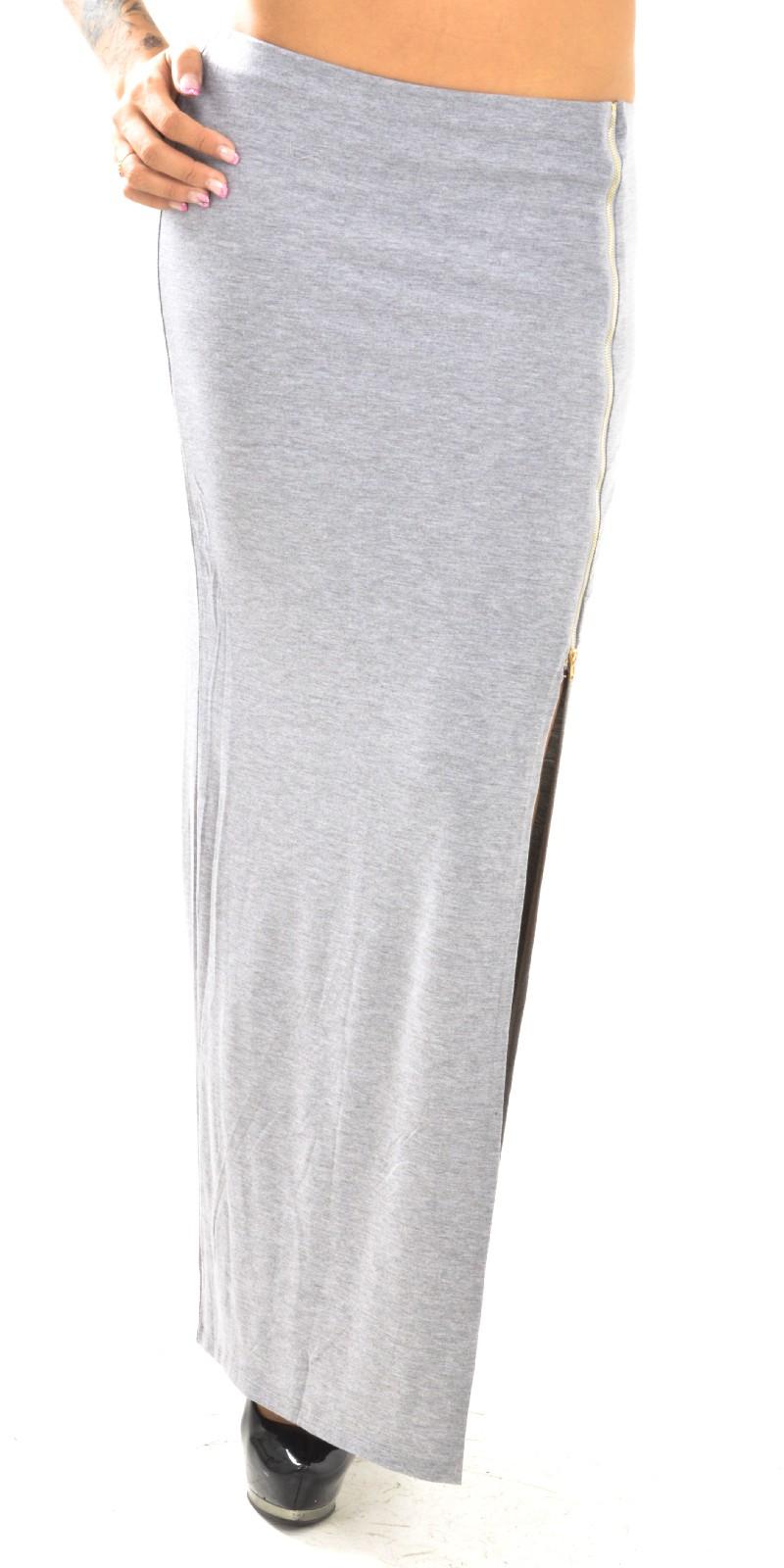 258afa0f330 Jupe droite longue fendue jupe longue pour l hiver