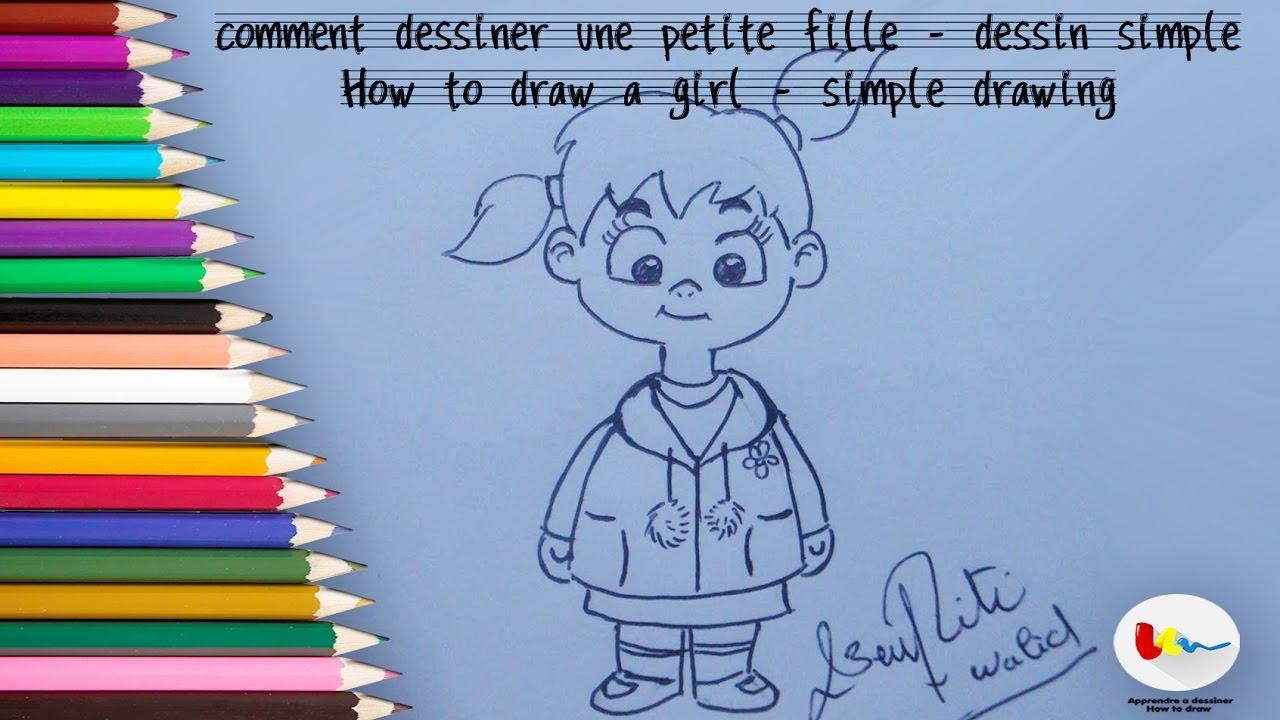 Comment dessiner une fille simple - Fille facile a dessiner ...
